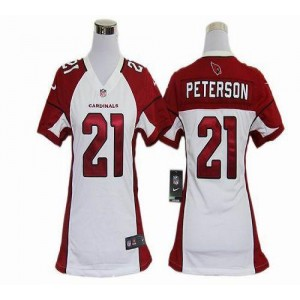 Nike Arizona Cardinals No.21 Patrick Peterson White Women's Elite Jersey