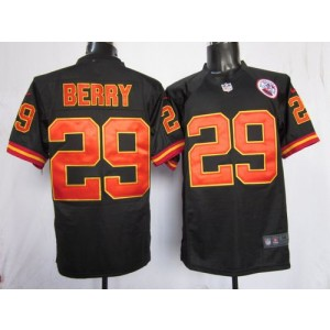 Nike Kansas City Chiefs No.29 Eric Berry Black Game Stitched Football Jersey