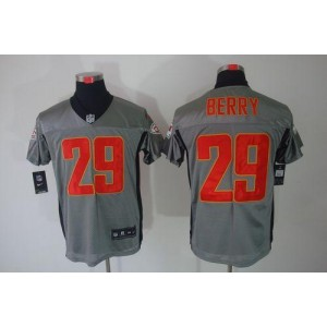 Nike Kansas City Chiefs No.29 Eric Berry Grey Shadow Elite Stitched Football Jersey