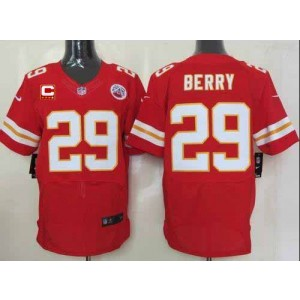 Nike Kansas City Chiefs No.29 Eric Berry Red With C Patch Elite Stitched Football Jersey