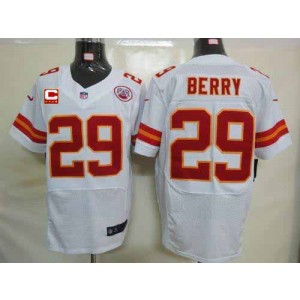 Nike Kansas City Chiefs No.29 Eric Berry White With C Patch Elite Stitched Football Jersey