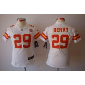 NFL Nike Chiefs 29 Eric Berry White Women's Limited Jersey