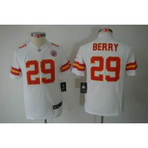Youth Nike Kansas City Chiefs 29 Eric Berry White NFL Limited Jersey