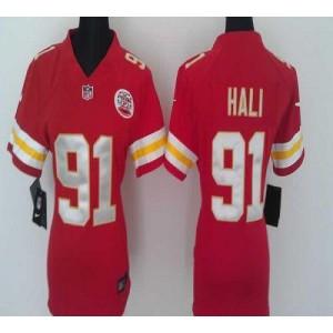 NFL Nike Chiefs 91 Tamba Hali Red Women's Elite Jersey