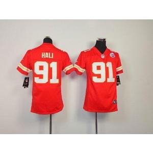 Youth Nike Kansas City Chiefs 91 Tamba Hali Red NFL Elite Jersey
