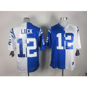 Nike Indianapolis Colts No.12 Andrew Luck Royal Blue White Elite Split Stitched Football Jersey