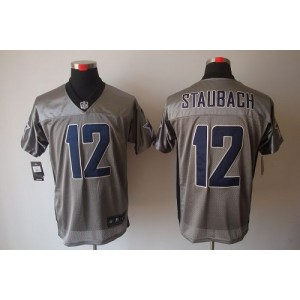 Nike Dallas Cowboys No.12 Roger Staubach Grey Shadow Elite NFL Jersey