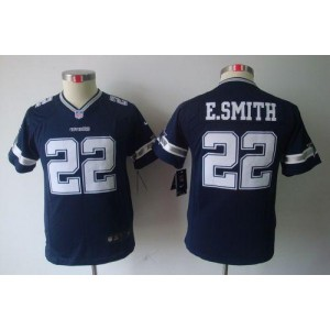 Youth Nike Dallas Cowboys 22 Emmitt Smith Navy Blue NFL Limited Jersey
