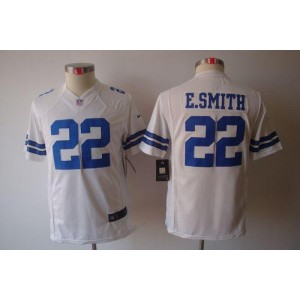 Youth Nike Dallas Cowboys 22 Emmitt Smith White NFL Limited Jersey