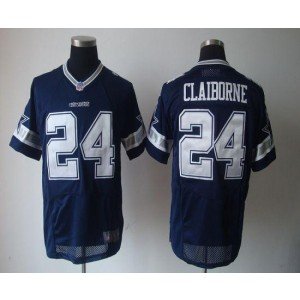 Nike Dallas Cowboys No.24 Morris Claiborne Navy Blue Elite NFL Jersey