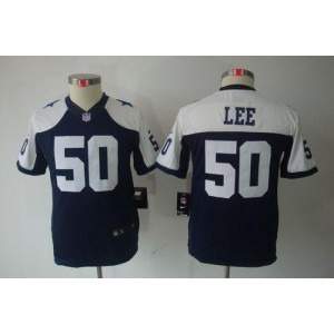 Youth Nike Dallas Cowboys 50 Sean Lee Navy Blue Thanksgiving Throwback NFL Limited Jersey