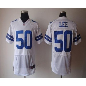 Nike Dallas Cowboys No.50 Sean Lee White Elite NFL Jersey