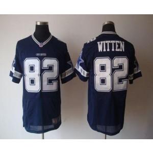 Nike Dallas Cowboys No.82 Jason Witten Navy Blue Elite NFL Jersey