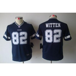 Youth Nike Dallas Cowboys 82 Jason Witten Navy Blue NFL Limited Jersey