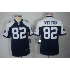 Youth Nike Dallas Cowboys 82 Jason Witten Navy Blue Thanksgiving Throwback NFL Limited Jersey