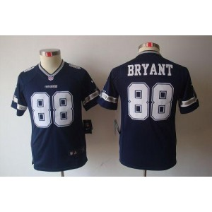 Youth Nike Dallas Cowboys 88 Dez Bryant Navy Blue NFL Limited Jersey