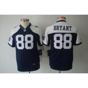 Youth Nike Dallas Cowboys 88 Dez Bryant Navy Blue Thanksgiving Throwback NFL Limited Jersey