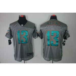 Nike Miami Dolphins No.13 Dan Marino Grey Shadow Elite Jersey