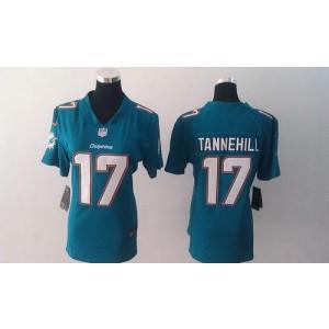 Nike Dolphins 17 Ryan Tannehill Aqua Green Team Color Women  NFL Elite Jerseys