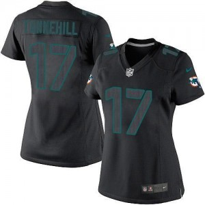 Nike Dolphins #17 Ryan Tannehill Black Impact Women's Embroidered NFL Limited Jersey
