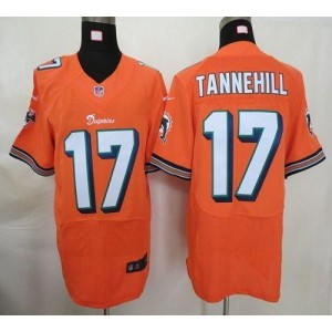 Nike Miami Dolphins No.17 Ryan Tannehill Orange Elite Jersey