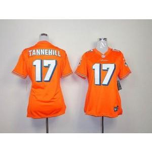 NFL Nike Dolphins 17 Ryan Tannehill Orange Women's Elite Jersey