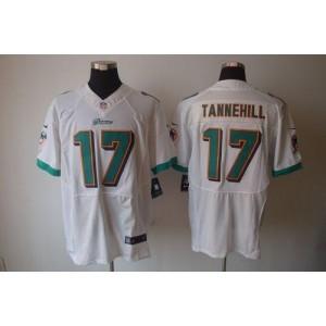 Nike Miami Dolphins No.17 Ryan Tannehill White Elite Jersey