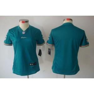 NFL Nike Dolphins Blank Aqua Green Women's Limited Jersey