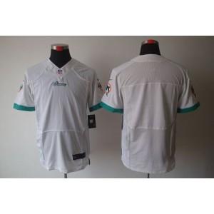 Nike Miami Dolphins Blank White Elite Jersey