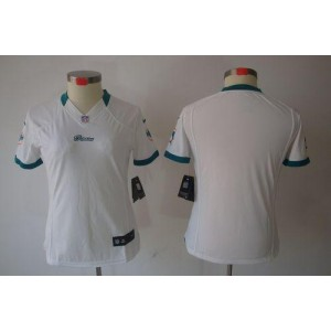 NFL Nike Dolphins Blank White Women's Limited Jersey