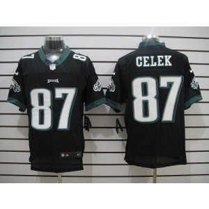Nike Philadelphia Eagles No.87 Brent Celek Black Elite Jersey