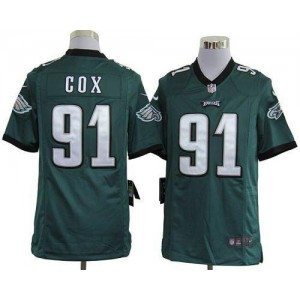 Nike Philadelphia Eagles No.91 Fletcher Cox Midnight Green Game Jersey