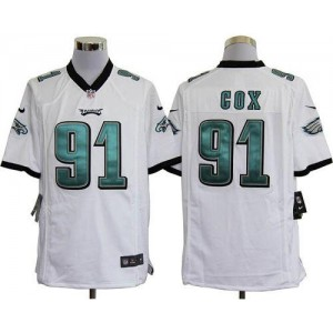 Nike Philadelphia Eagles No.91 Fletcher Cox White Game Jersey