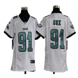 Youth Nike Philadelphia Eagles 91 Fletcher Cox White NFL Elite Jersey