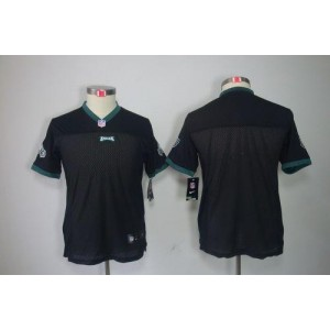 Nike Eagles Blank Black Alternate Youth Embroidered NFL Limited Jersey
