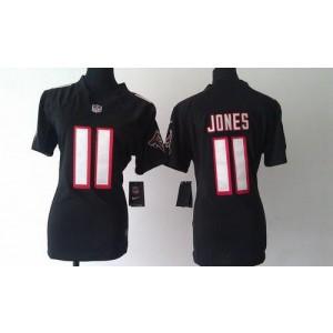 Nike Atlanta Falcons 11 Julio Jones Black WoMen's Elite Jersey