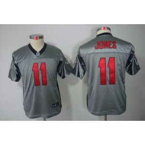 Youth Nike Atlanta Falcons 11 Julio Jones Grey Shadow Elite Jersey