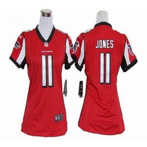 Nike Atlanta Falcons 11 Julio Jones Red WoMen's Elite Jersey