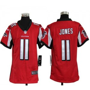 Youth Nike Atlanta Falcons 11 Julio Jones Red Elite Jersey