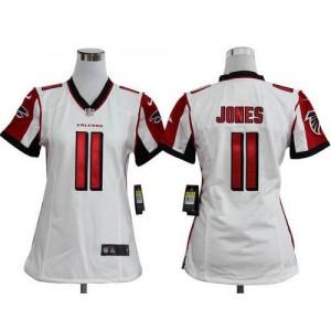 Nike Atlanta Falcons 11 Julio Jones White WoMen's Elite Jersey