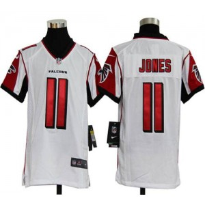 Youth Nike Atlanta Falcons 11 Julio Jones White Elite Jersey