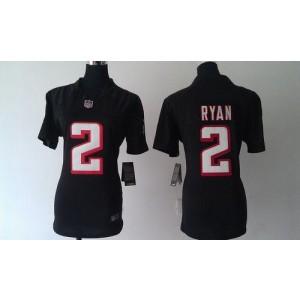 Nike Atlanta Falcons 2 Matt Ryan Black WoMen's Elite Jersey