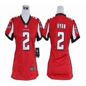 Nike Atlanta Falcons 2 Matt Ryan Red WoMen's Elite Jersey