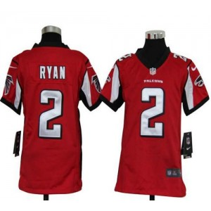 Youth Nike Atlanta Falcons 2 Matt Ryan Red Elite Jersey
