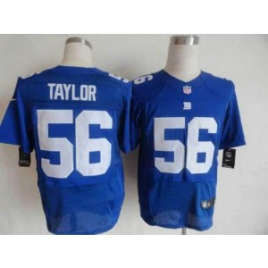Nike New York Giants No.56 Lawrence Taylor Royal Blue Stitched Elite Jersey