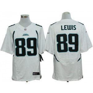 Nike Jacksonville Jaguars No.89 Marcedes Lewis White Elite Stitched Football Jersey