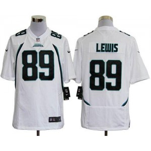 Nike Jacksonville Jaguars No.89 Marcedes Lewis White Game Stitched Football Jersey
