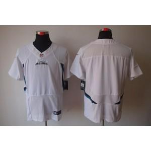 Nike Jacksonville Jaguars Blank White Elite Stitched Football Jersey