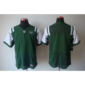 Nike New York Jets Blank Green Elite Jersey