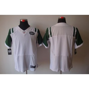 Nike New York Jets Blank White Elite Jersey